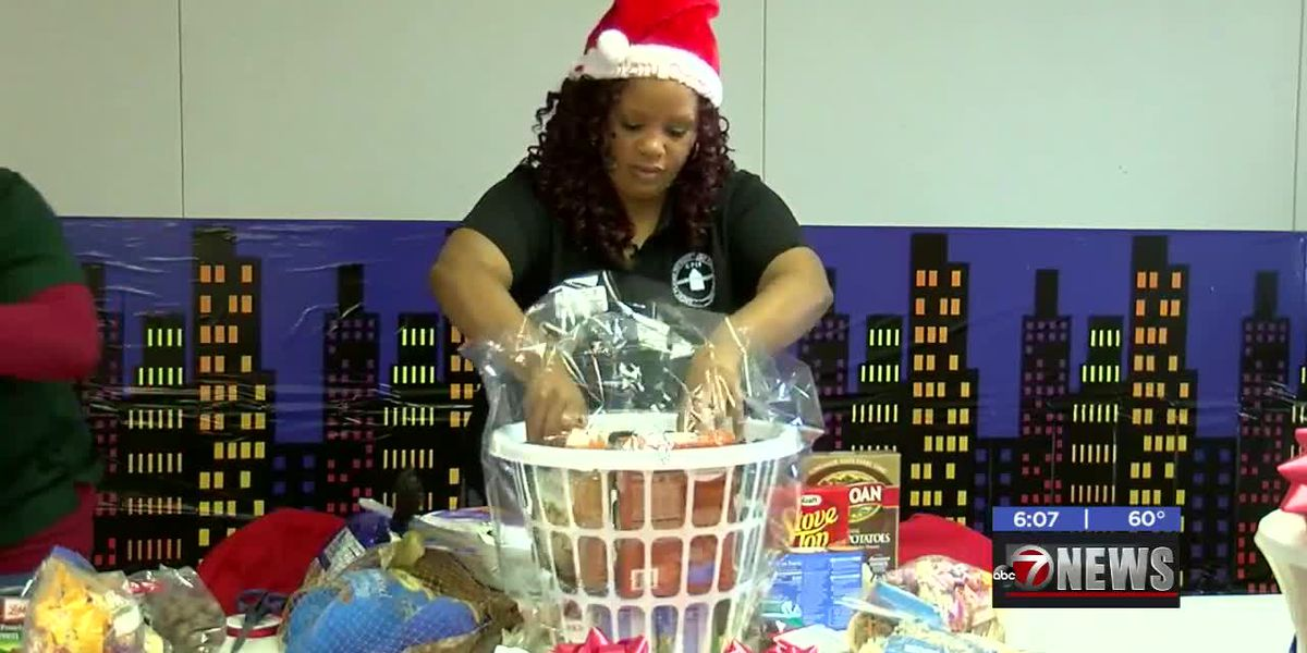 Great Plains Improvement Foundation gives Christmas baskets in Lawton