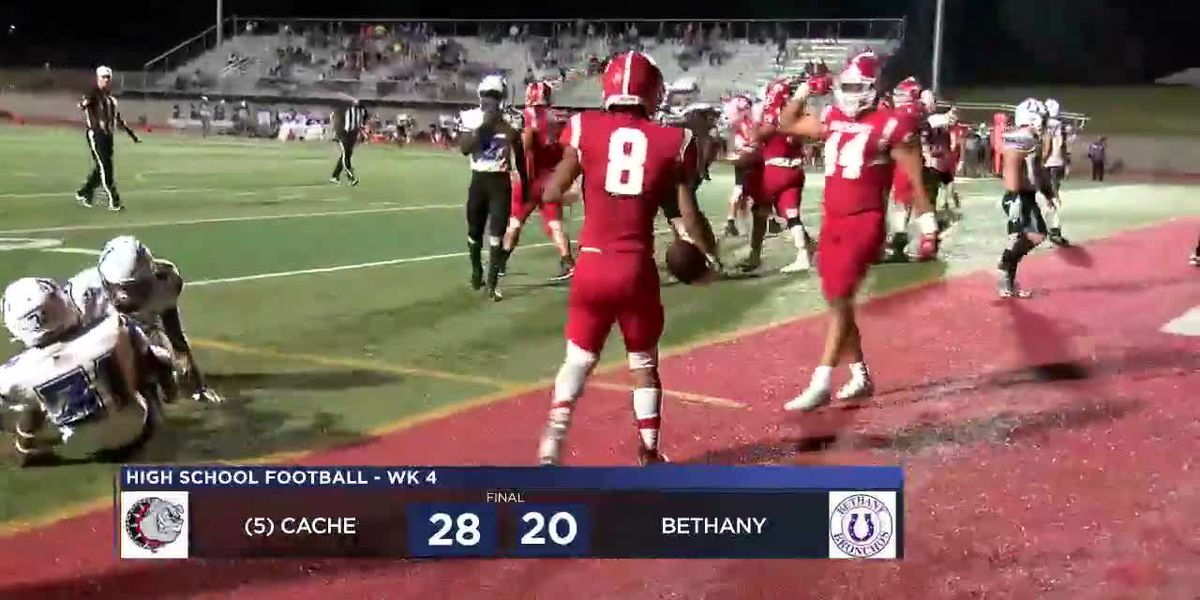 Cache rallies back to beat Bethany, 28-20