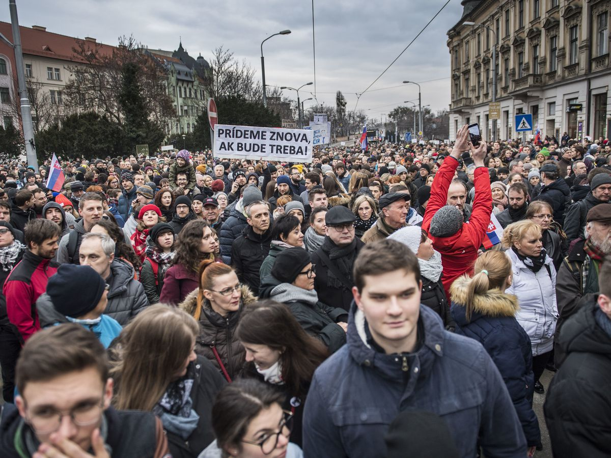 Slovak president condemns questioning of protest organizers