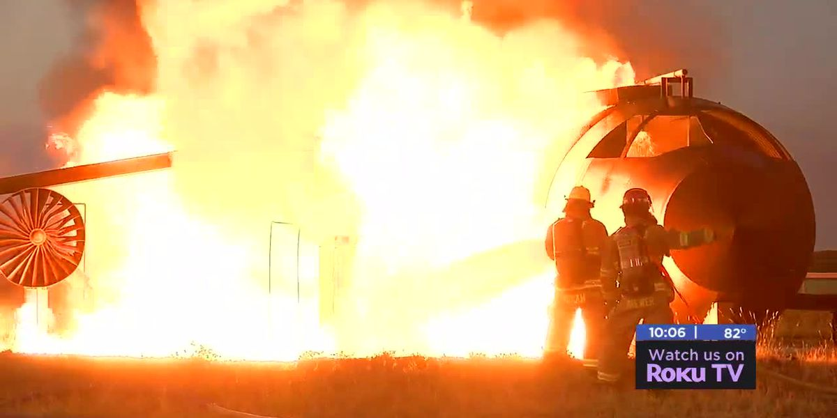 Altus Air Force Base Fire Department holds Live Fire Expo