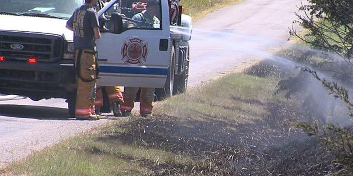 Grass fire sparked by welder