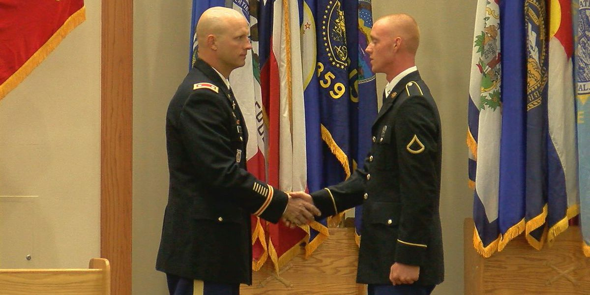 Graduation day for basic trainees on Fort Sill