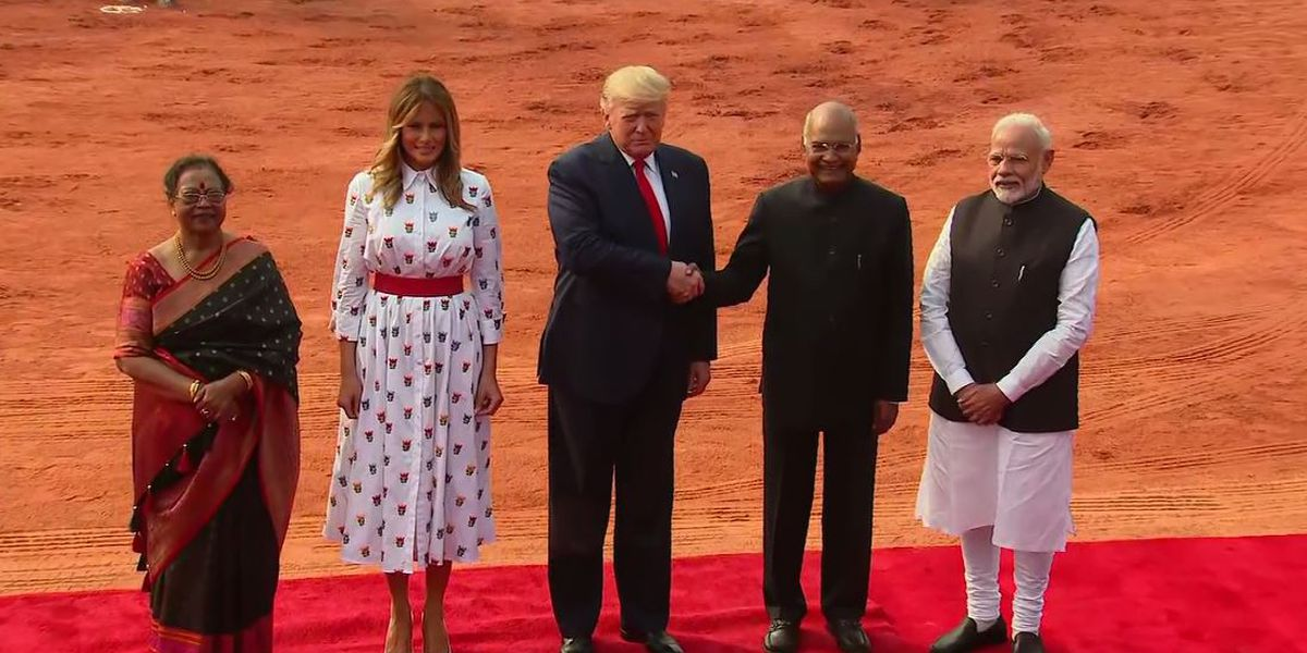 Trump's India visit moves from pomp to trade, military talks