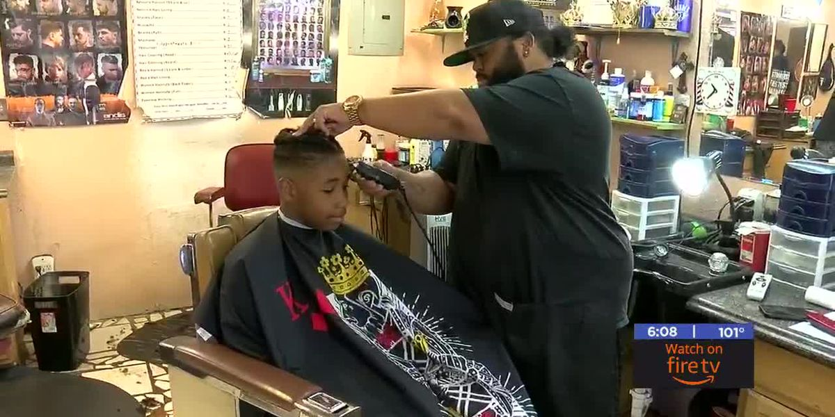 Lawton barber shop giving free back to school haircuts