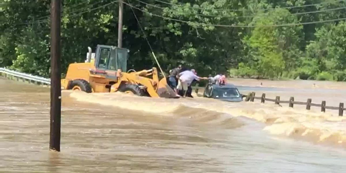 Daring rescue of Pa. family swept away in floodwaters captured on video