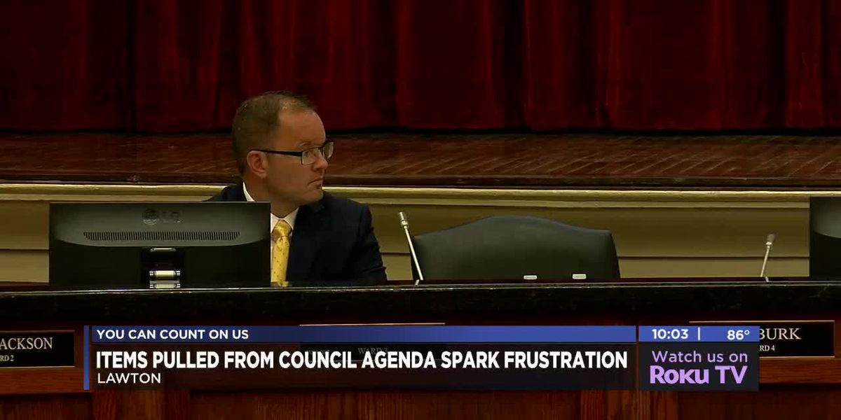 Five items pulled from agenda during Lawton City Council meeting