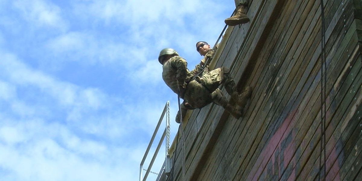 Trainees tackle Treadwell Tower in basic training