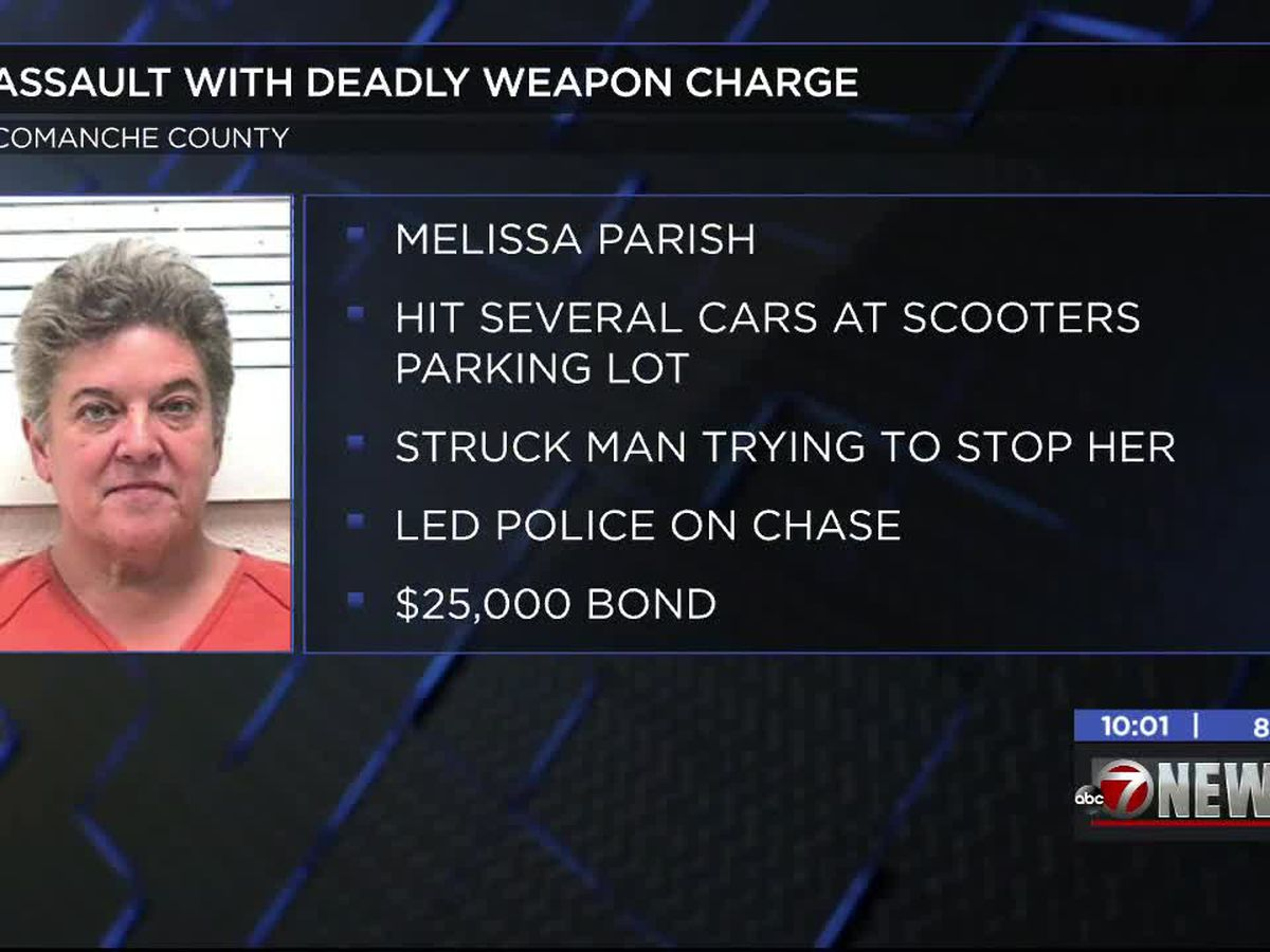 Woman charged with multiple felonies after hitting person, several cars in Lawton parking lot