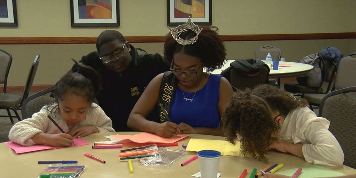 Young girls came to the Miss Black CU Charm School