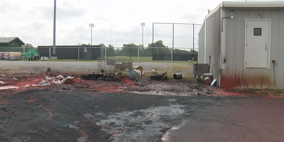 Small explosion causes damage to MHS track field