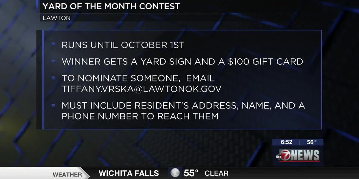 Yard of the Month competition in Lawton ongoing until Oct. 1st
