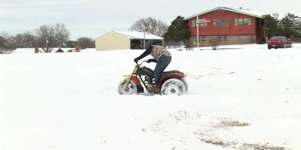 Frederick residents take advantage of the snow