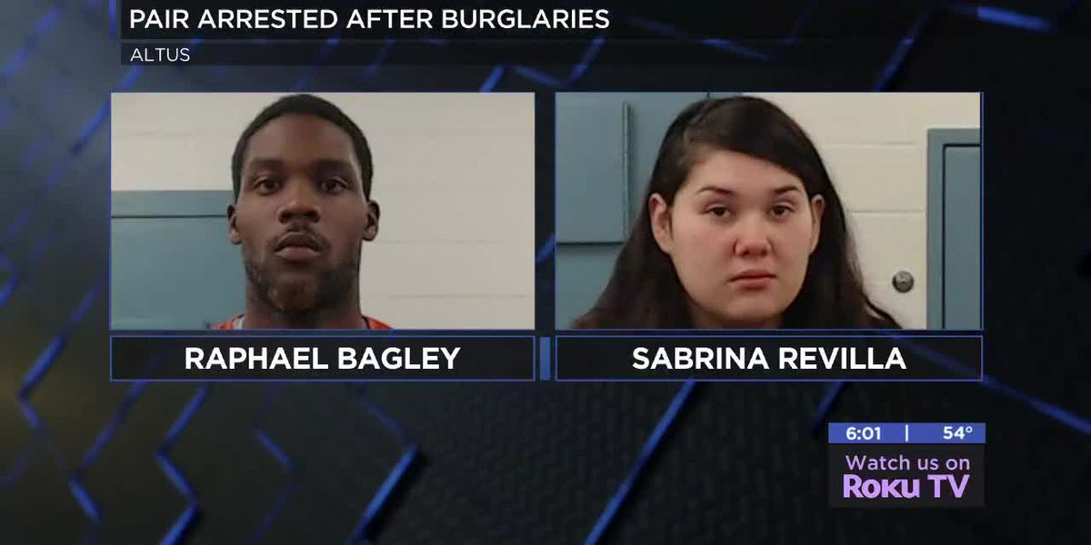 Altus couple facing charges in connection with burglary