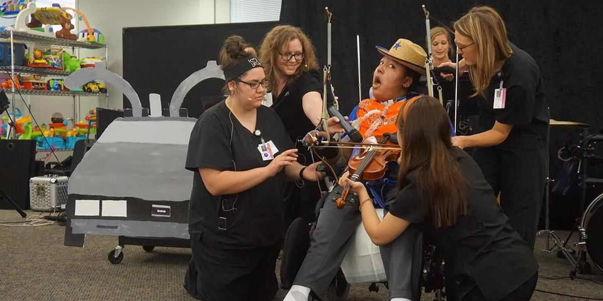 Patients of The Children's Center Hospital express themselves through music