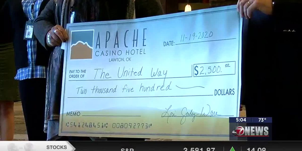 Fort sill Apache tribe makes generous donation to the United Way of Southwest Okla.