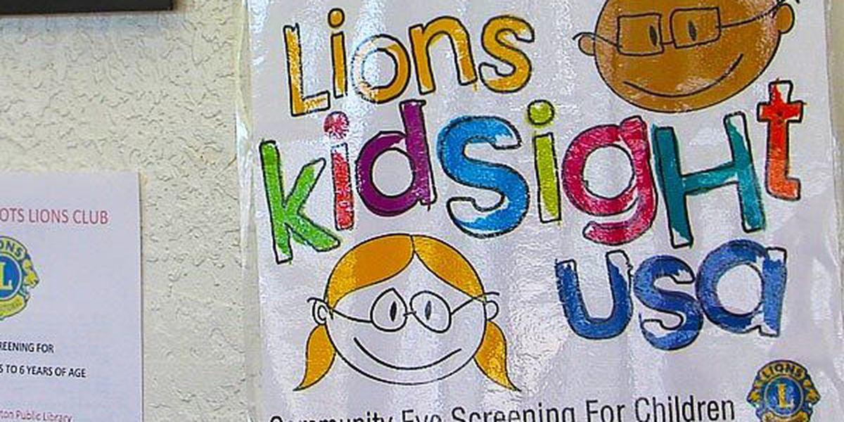 Children receive free eye exams