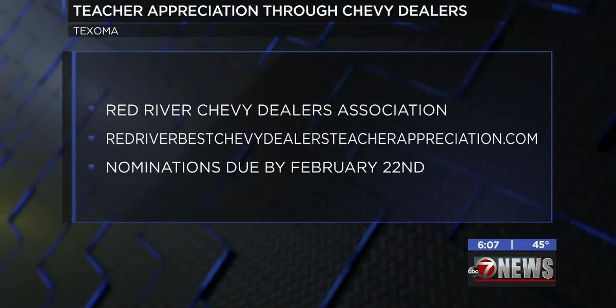 Red River Chevy Dealers Association asking for nominations for teacher appreciation event