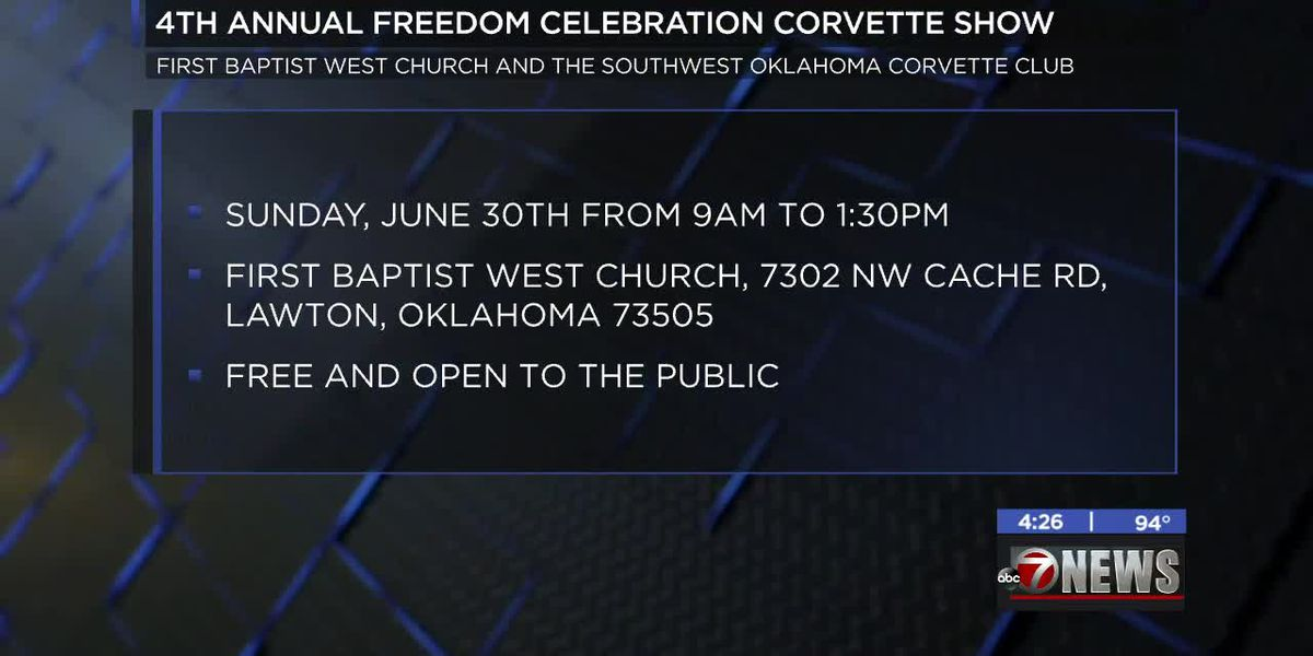 4th Annual Freedom Celebration Corvette Show happening in Lawton