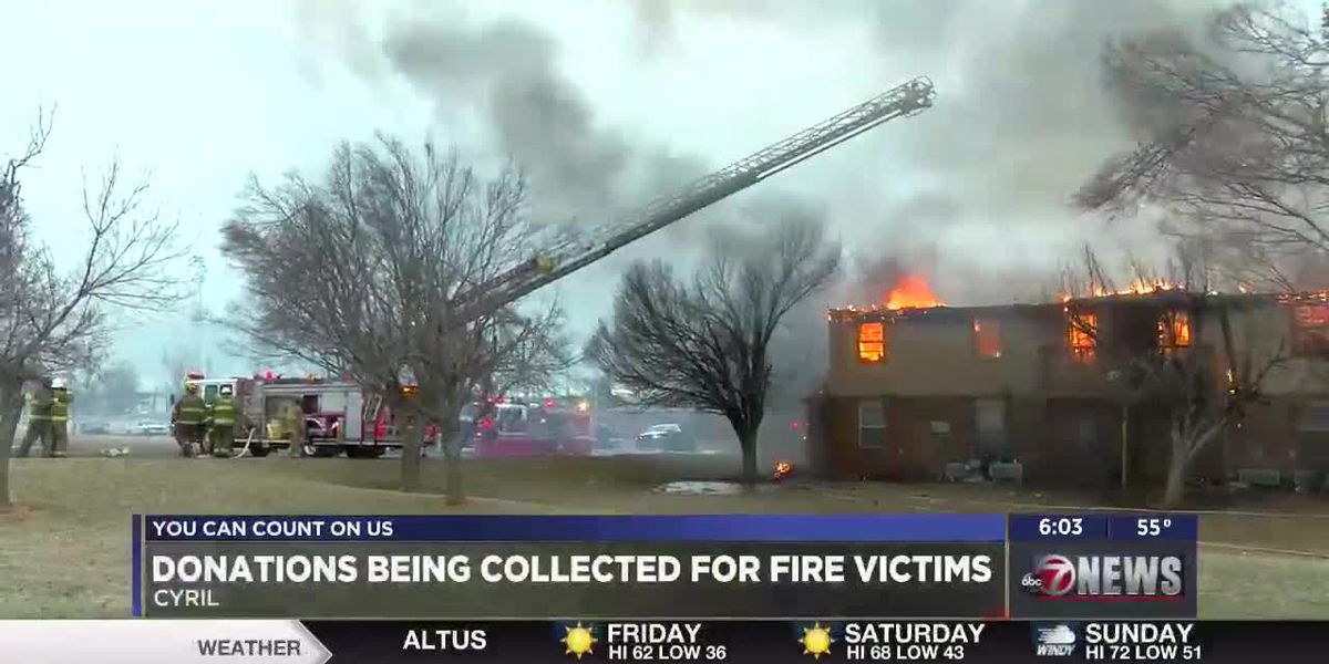 Local communities come together to help victims of Cyril apartment fire