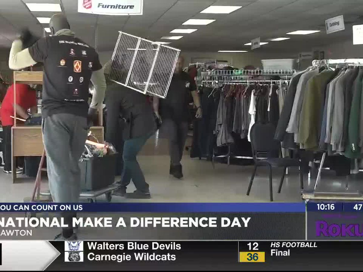 Ft. Sill Soldiers participate in National Make a Difference Day
