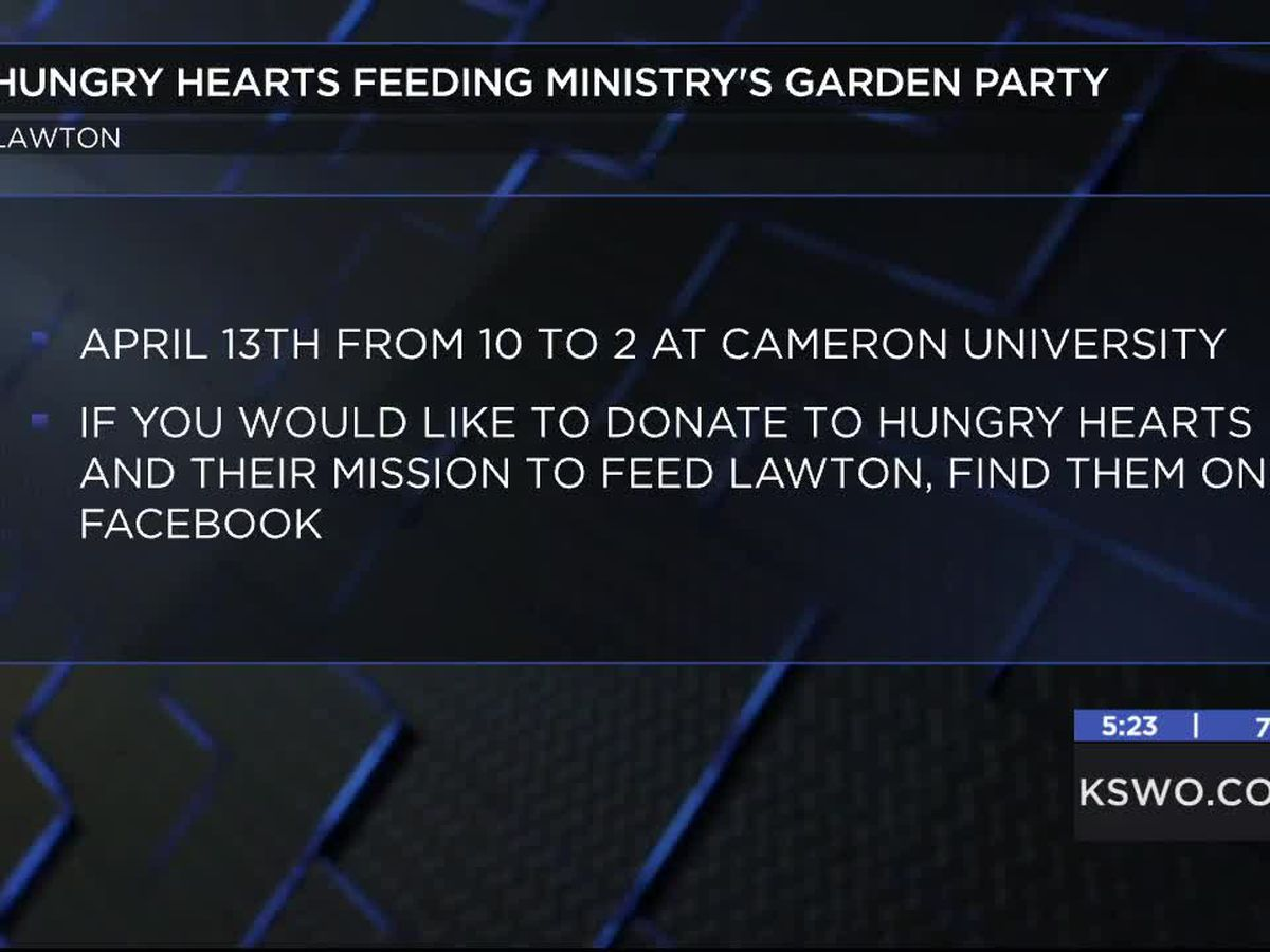 Hungry Hearts Feeding Ministry hosting Garden Party at CU gardens