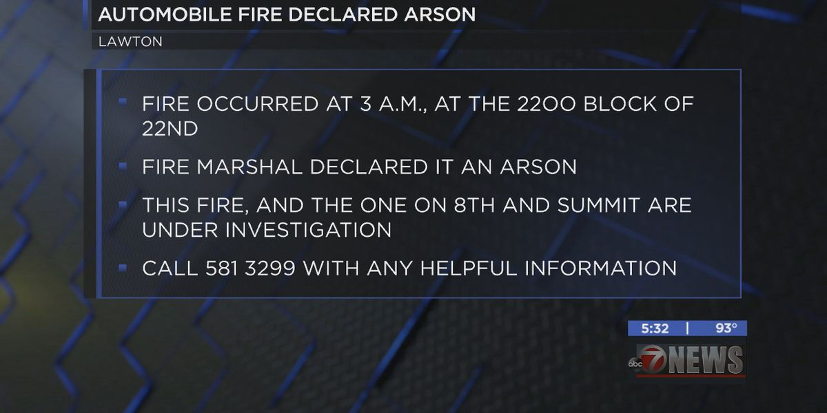 Fire Marshal declares automobile fire as arson
