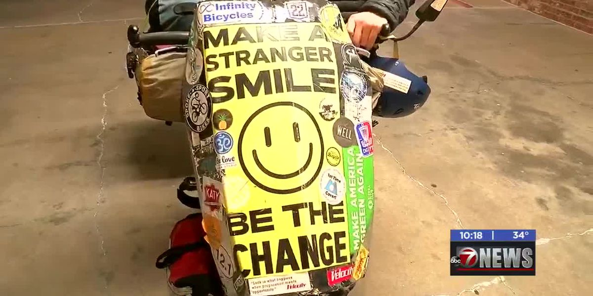 Man cycling across country for suicide awareness