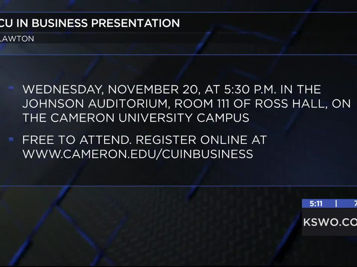 Cameron University presents CU in Business workshop