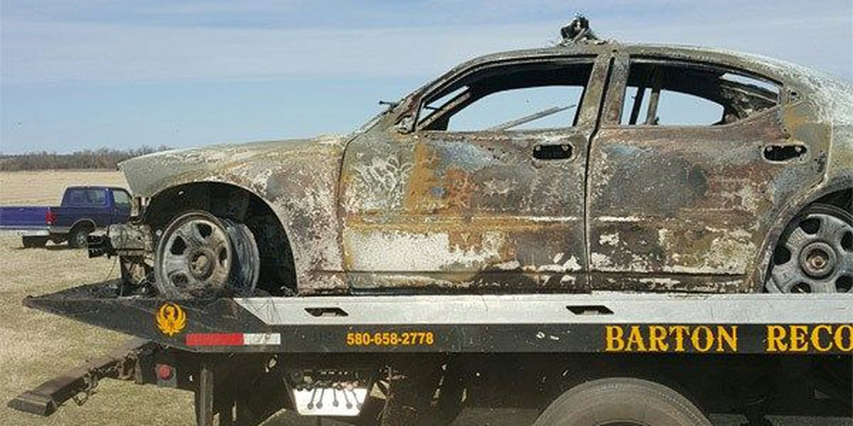 High-speed chase ends in fire
