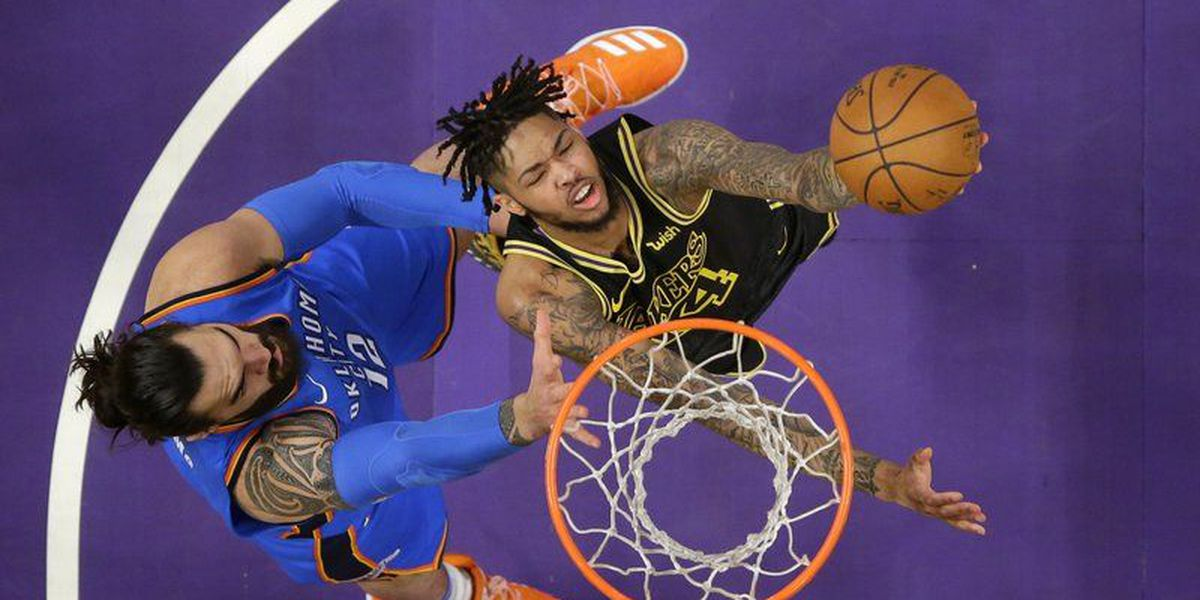 Caldwell-Pope, Lakers trounce short-handed Thunder, 106-81