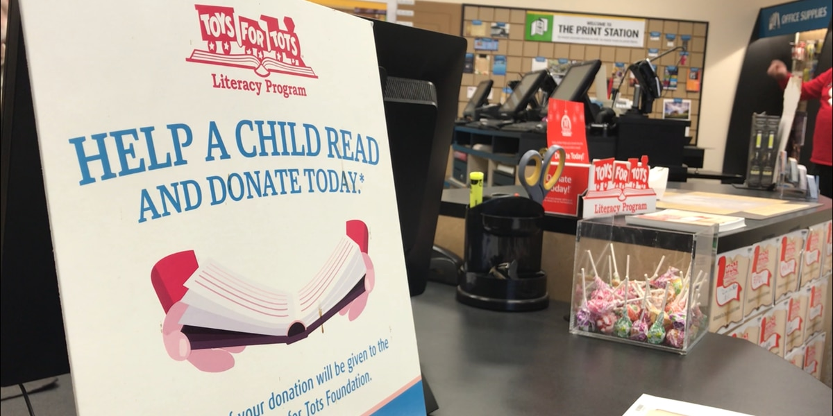 Lawton's UPS Store collects donation for Toys for Tots Literacy Program