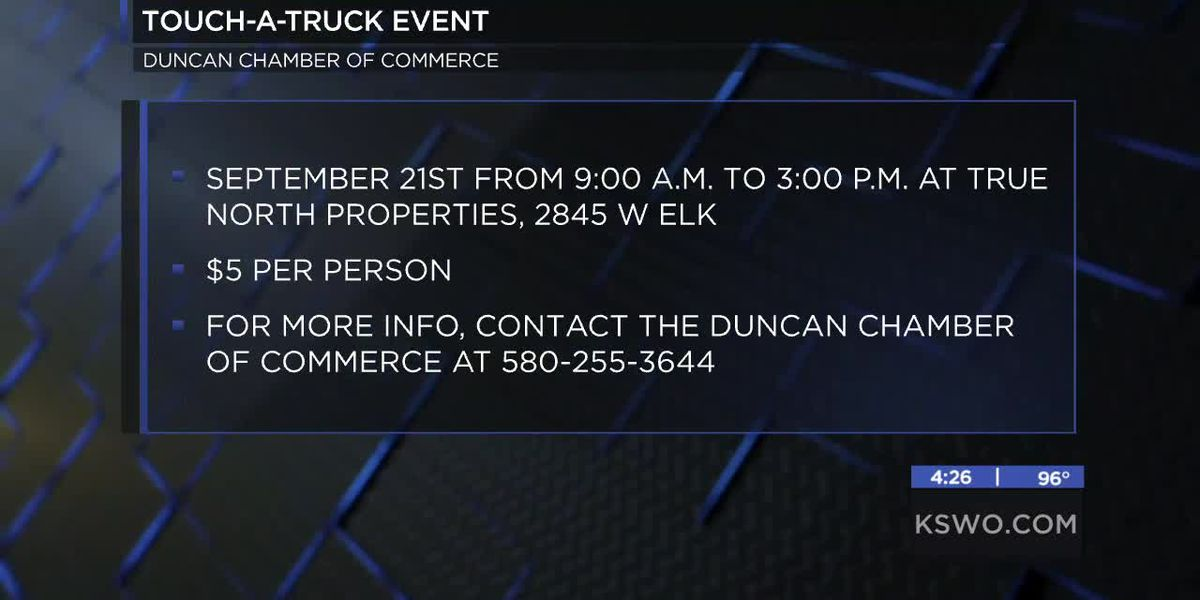 Duncan Chamber of Commerce hosts Touch-A-Truck event