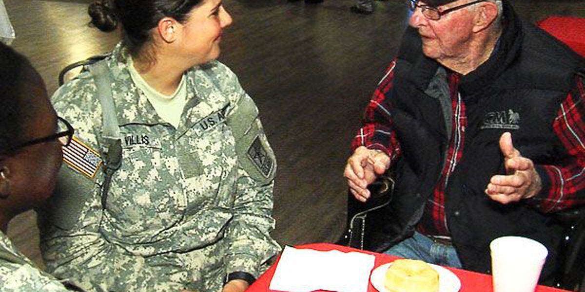 New soldiers spend Veterans Day at Lawton-Ft. Sill Veterans Center