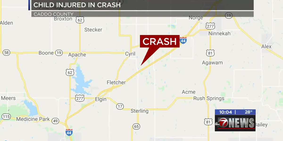 5-year-old injured in Caddo County crash