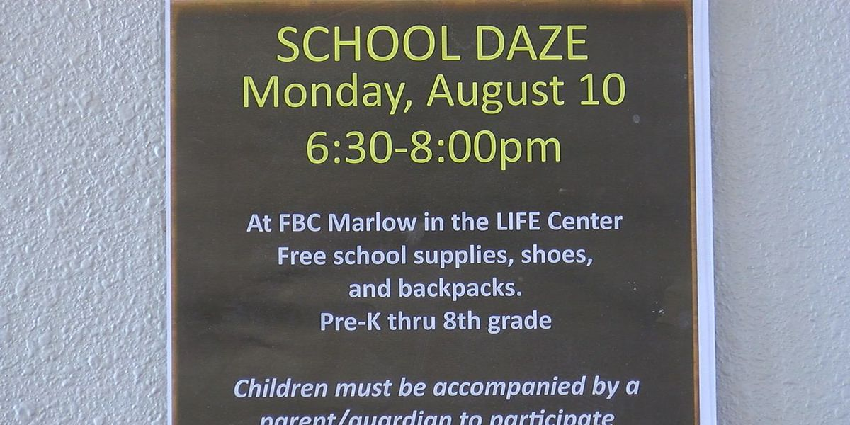 Marlow church holding back to school event
