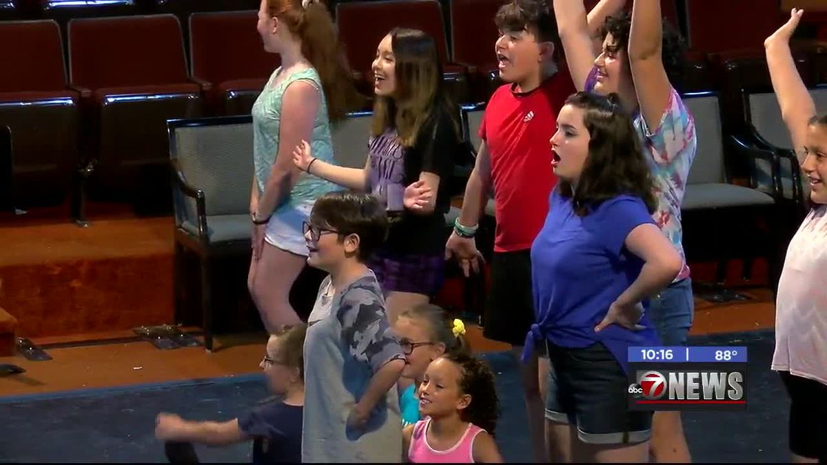 Kids with Lawton Community Theatre rehearse for upcoming performance