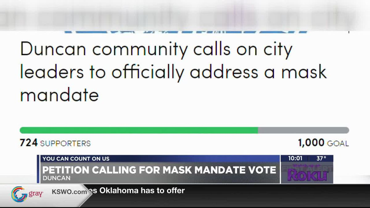 Duncan leaders clash about putting mask mandate on council agenda