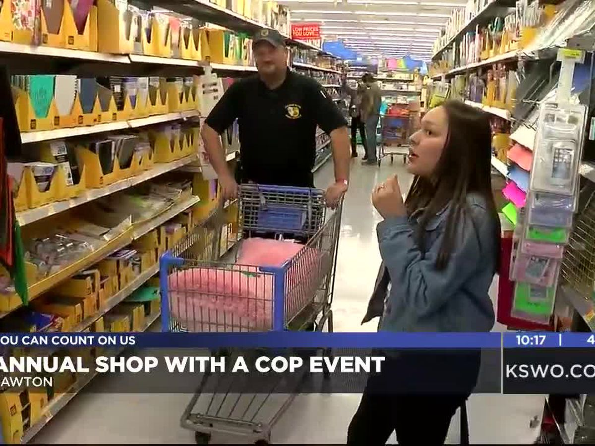 Comanche Nation hosts annual 'Shop with a Cop'