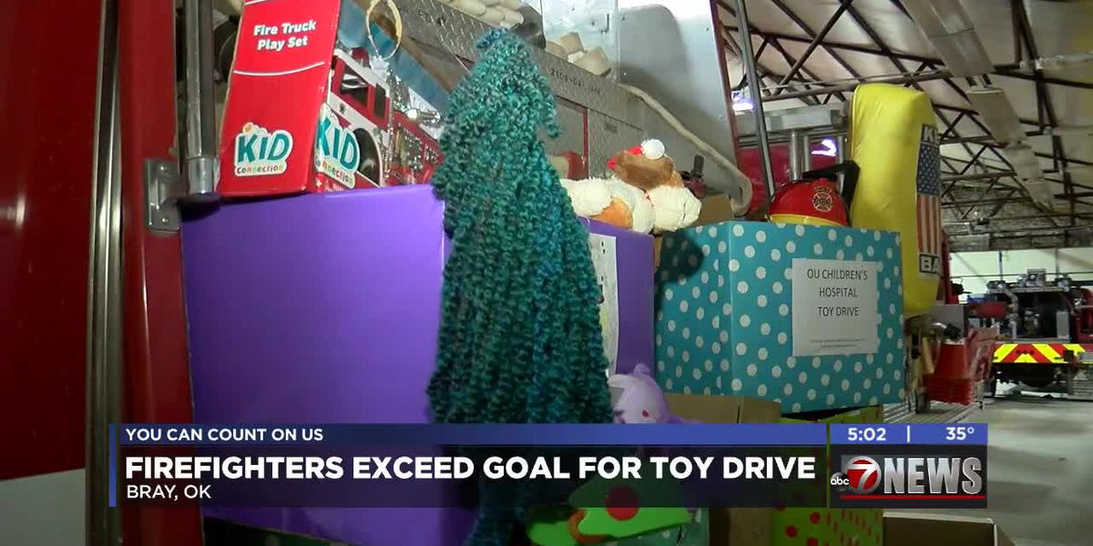 Firefighters exceed goal in toy drive