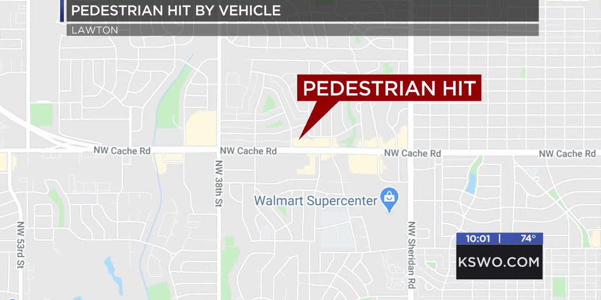 Pedestrian hit by a vehicle Friday night, hospitalized for injuries