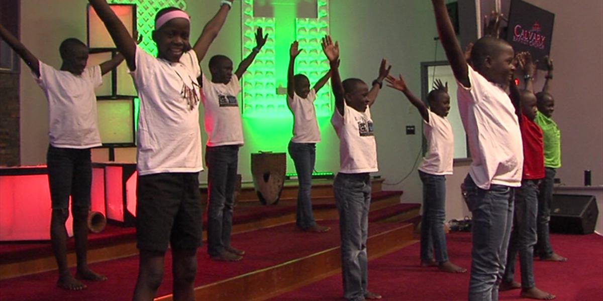 Ugandan Kids Choir visits Lawton Church