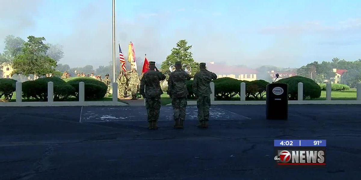 Fort Sill says goodbye to commanding general of Field Artillery National Guard, welcomes replacement