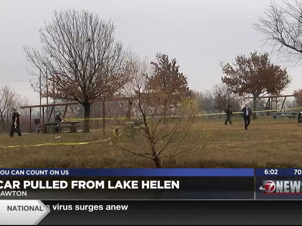 Submerged car recovered from Lawton's Lake Helen