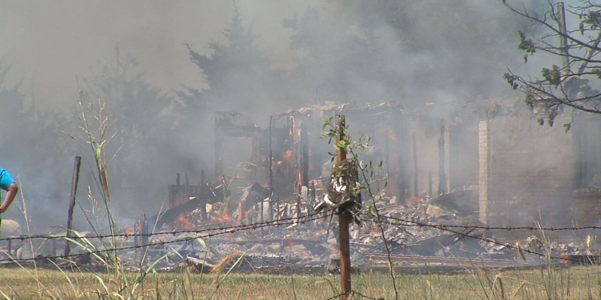 House destroyed in fire