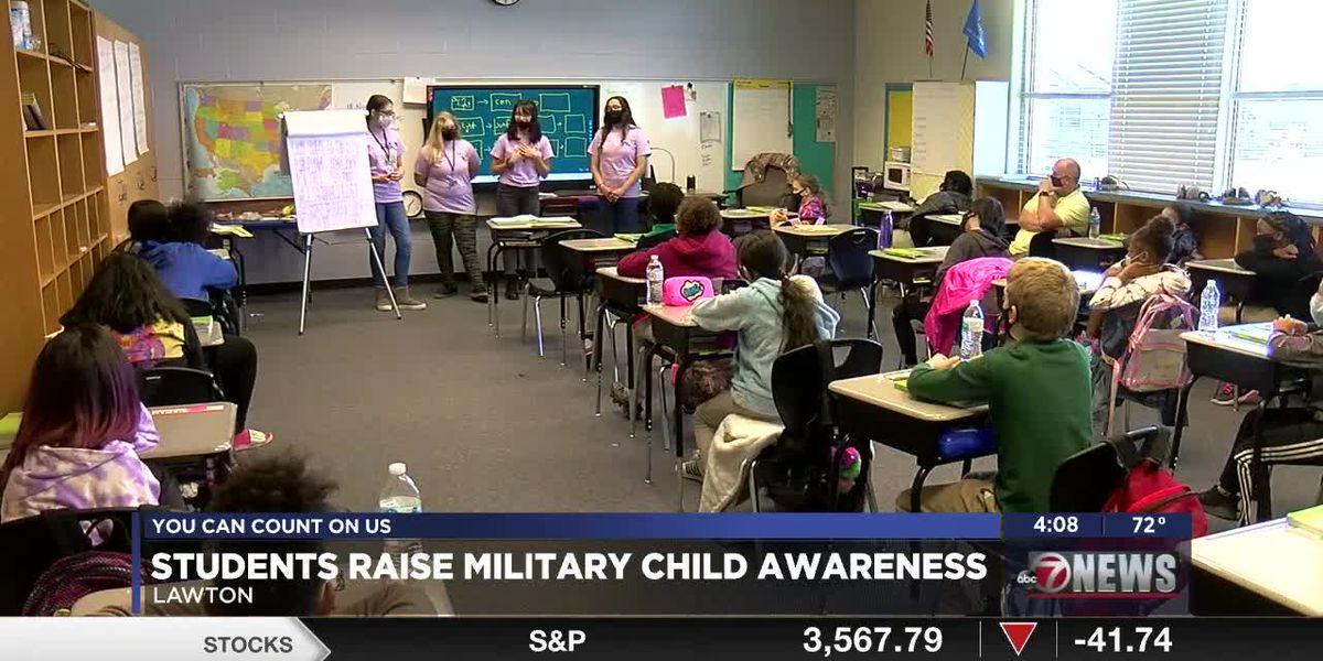 Eisenhower high's military child club visits elementary school, raises awareness