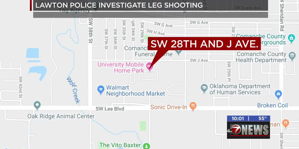Lawton Police investigate after person shot in leg