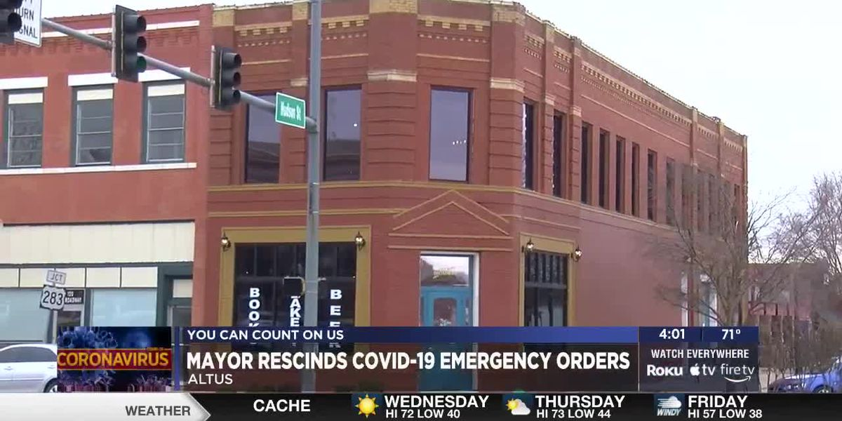 City of Altus rescinds COVID-19 Emergency Orders