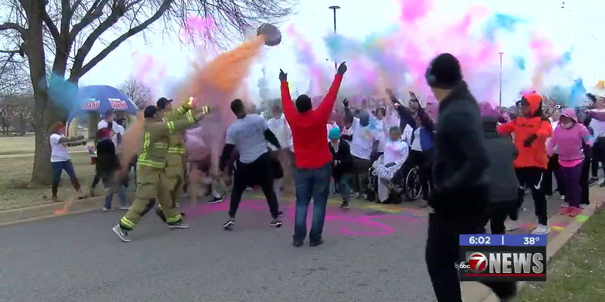 Large turnout for Lawton Heroes 5k Color Run