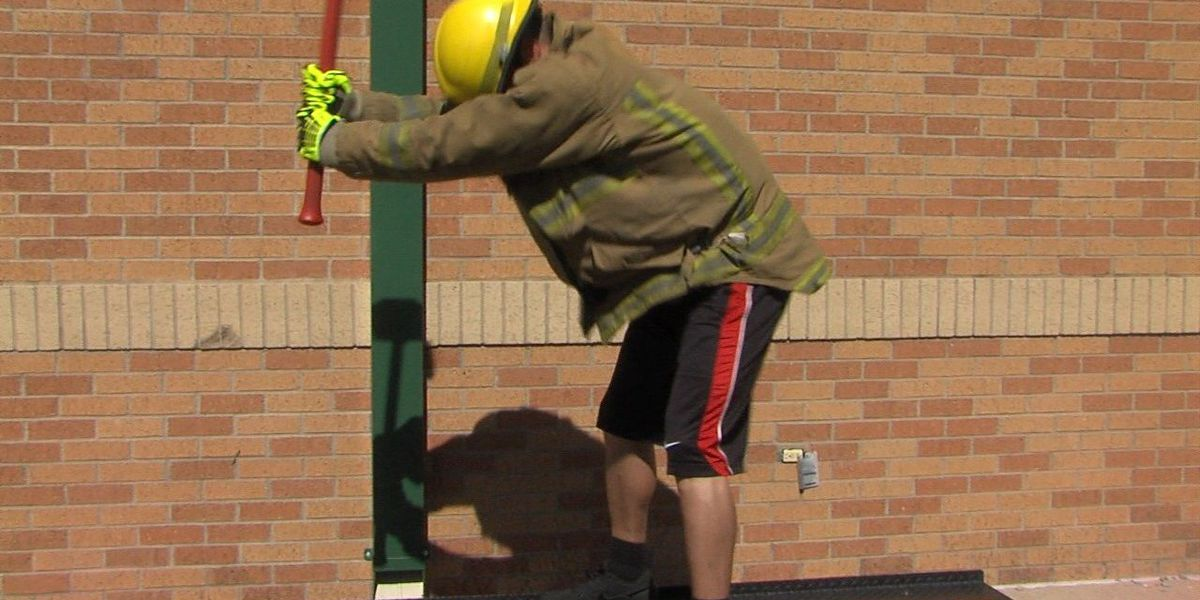 Firefighter hopefuls test their strength and stamina