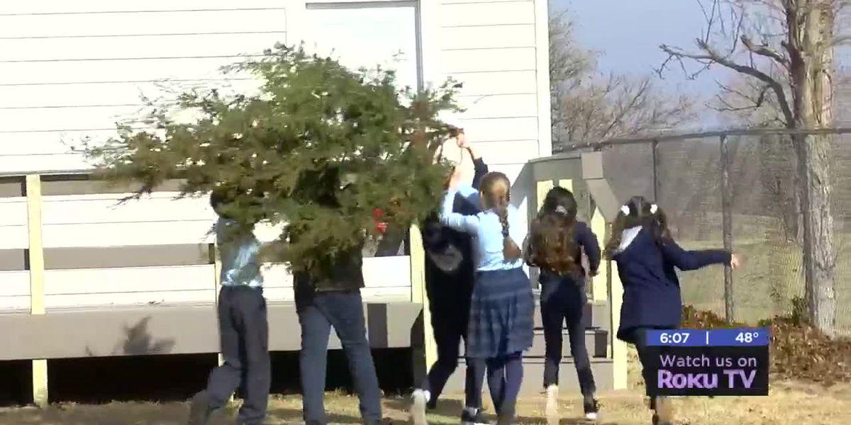 Saint Mary's Catholic School students learn about Christmas on the prairie